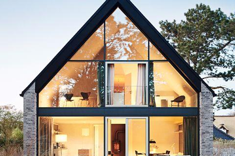 Satteldach; Dünenlandschaft; große Fenster; Architektenhaus; St.-Peter-Ording