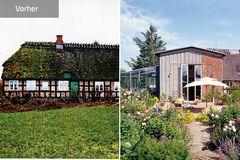 Vorher-Nachher: Wochenendhaus mit Reetdach