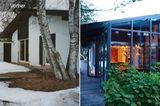 Vorher-Nachher: heller Bungalow mit Wintergarten