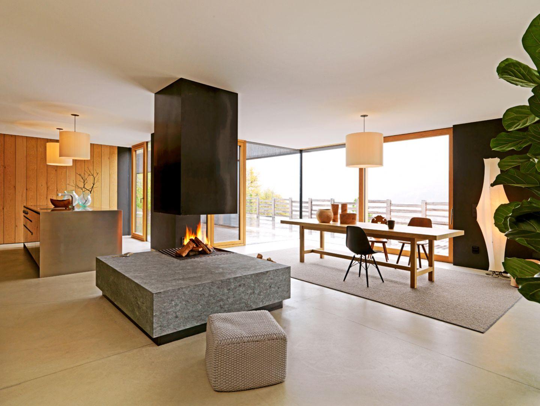 Wohnhaus; Architektenhaus; Südtirol; Bergmeister Wolf; Küche, Wohn- und Essbereich