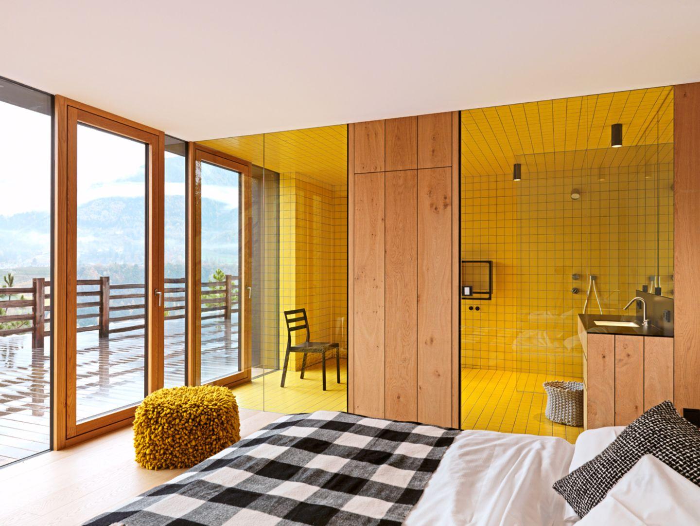 Wohnhaus; Architektenhaus; Südtirol; Bergmeister Wolf; Badezimmer