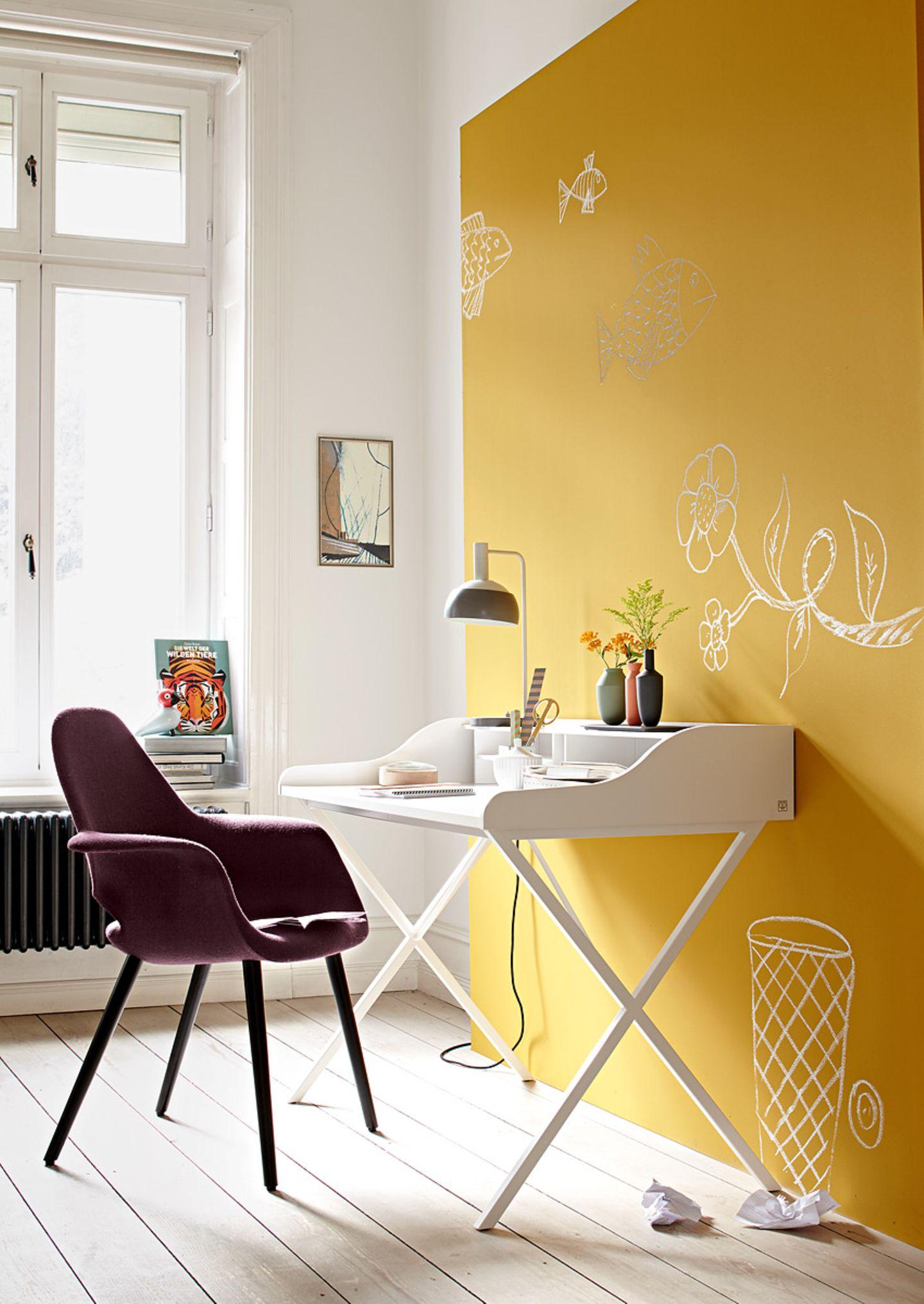Arbeitszimmer mit organischen Formen