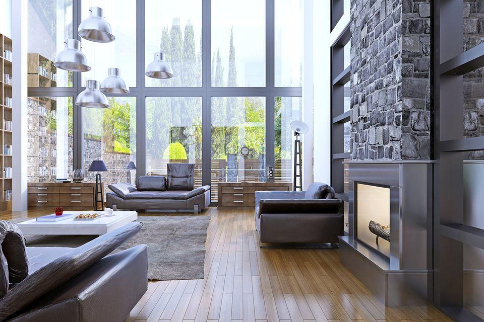 Hochwertig und stylisch eingerichtetes Loft mit großen Fenstern