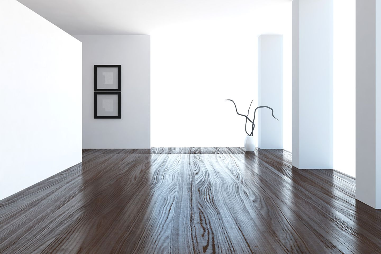 Komplett leergeräumte, renovierte Wohnung