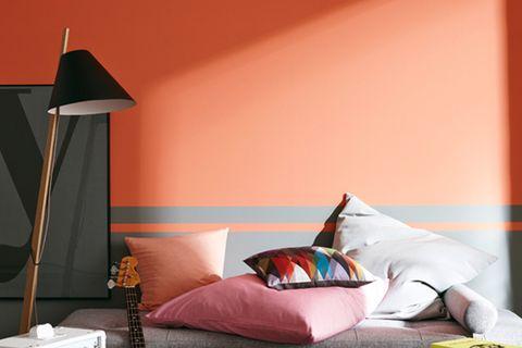 Rote Wandfarbe von SCHÖNER WOHNEN-Farbe
