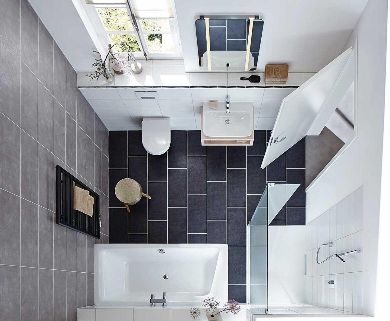 Kleines Bad gestalten   [SCHÖNER WOHNEN]