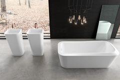 Badezimmer in Schwarzweiß-Look