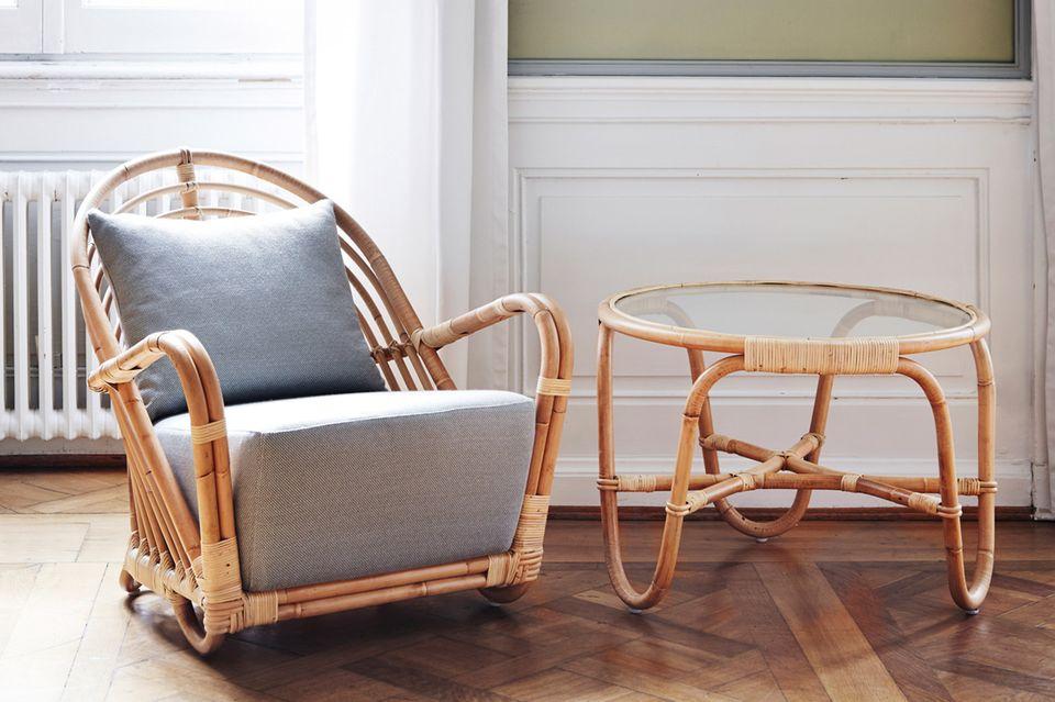 """Sessel und Tisch """"Charlottenburg"""", Sika-Design"""
