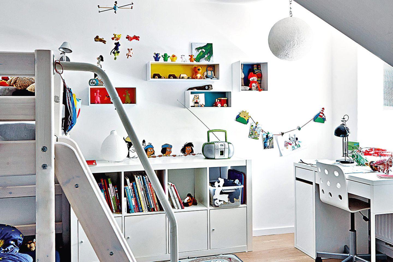 Alles hat seinen Platz - Ordnung in kleinem Kinderzimmer