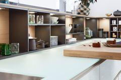 Arbeitsplatte aus Glas, Leicht Küchen