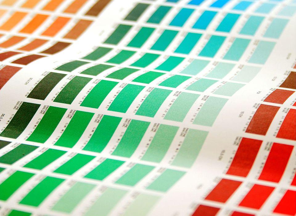 Wandfarben: Farbtabelle