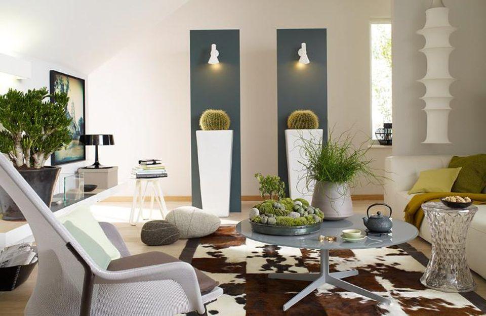 Zimmerpflanzen in einer modernen Wohnung.