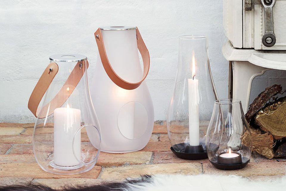 Windlicht aus Glas von Holmegaard