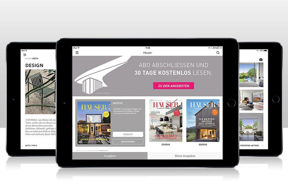HÄUSER als digitales Magazin lesen - auf Smartphones, Tablets und PC