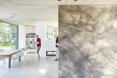 Bungalow: Entree mit verschiebbarem Wandbild