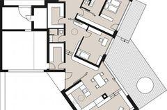 Planmaterial: Bungalow mit offenem Grundriss