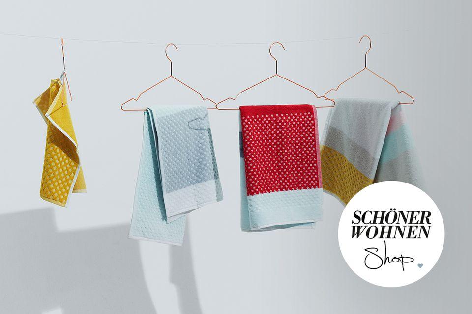 SCHÖNER WOHNEN-Shop Teaser Badtextilien Handtücher