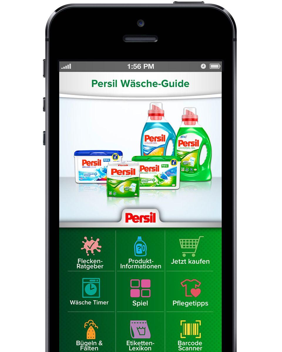 Heimtextilien richtig waschen: Wäscheguide App von Persil
