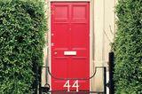Haustür Rot