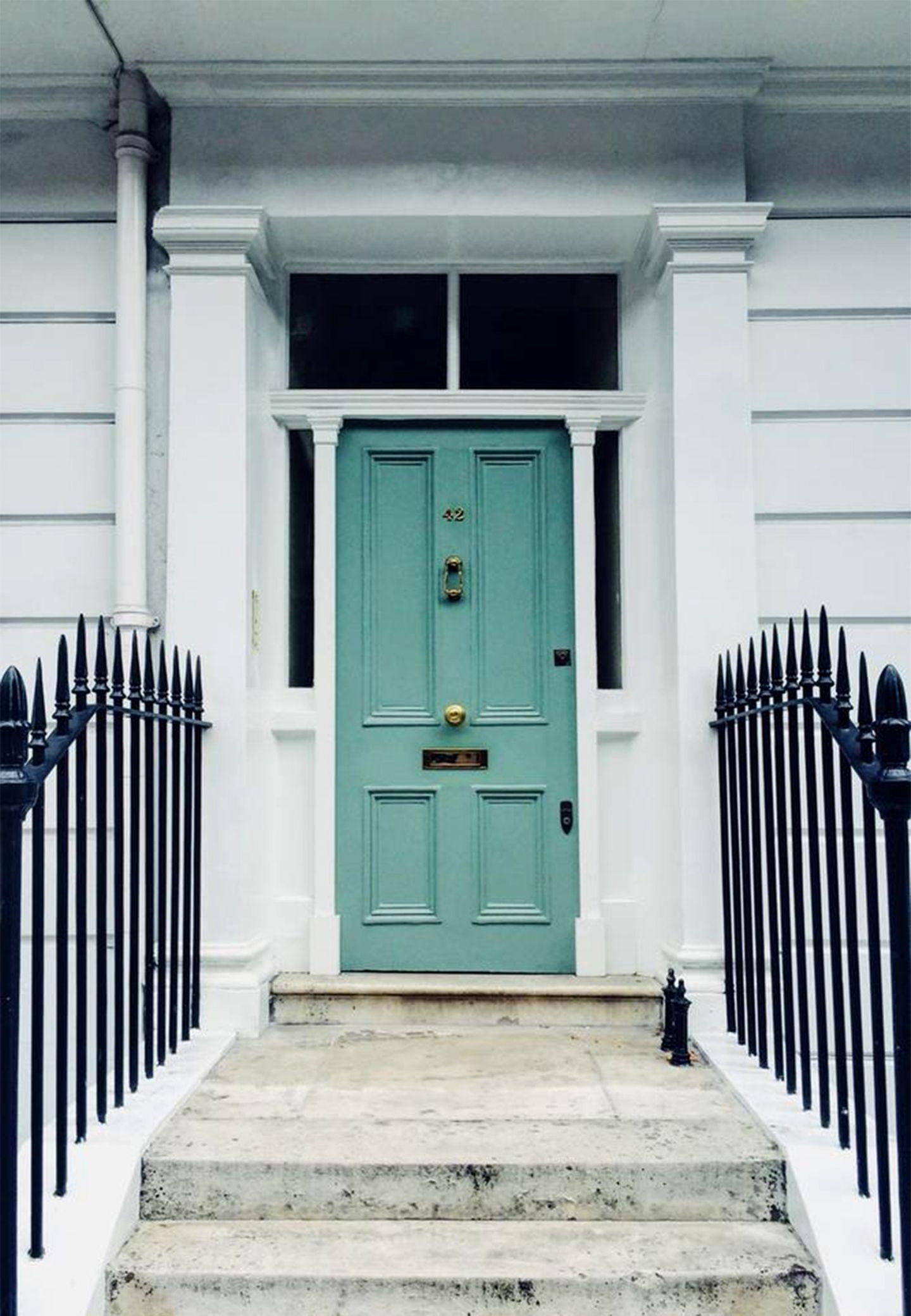 Haustür Türkis Grün London