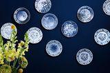 """Wandteller-Serie """"Blue Passion"""", Hutschenreuther"""