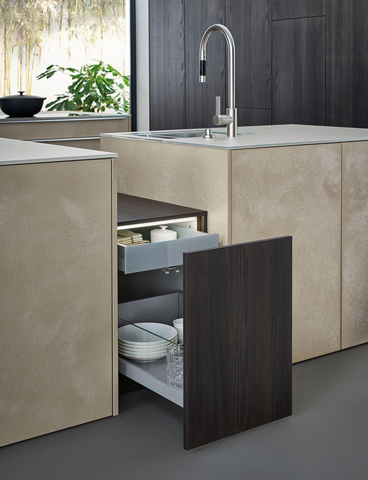 Materialien Stein Leicht Küche