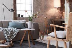 Wohnzimmer im neuen Landhaus- oder Modern Country-Stil