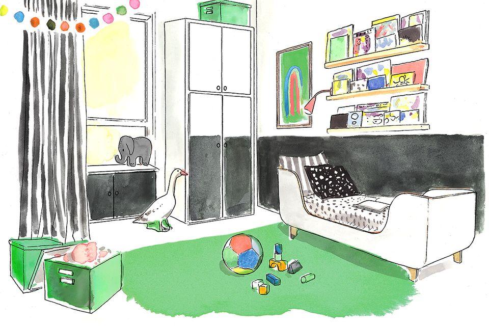 Kinderzimmer Illustration