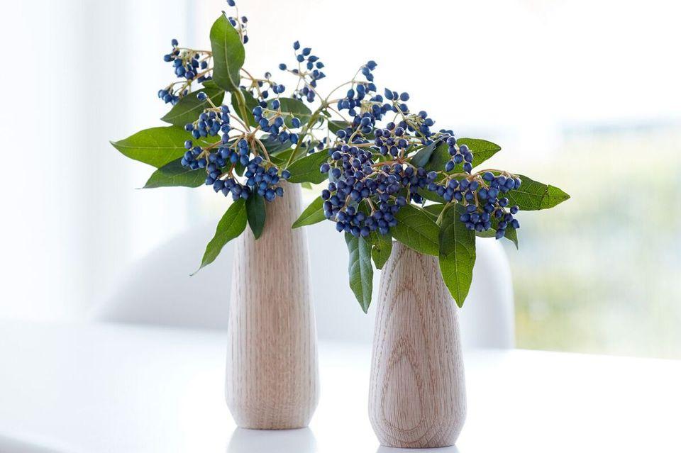 "Vase ""Torso"" von Applicata aus Holz"