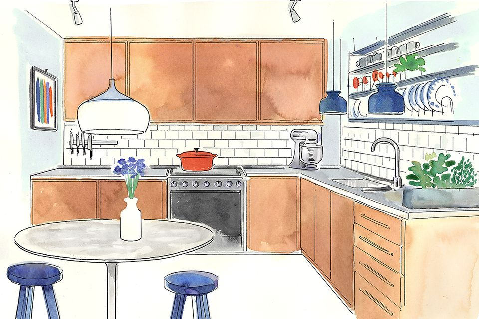 Wohntipps für die Küche: Illustration