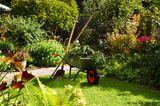 Gartengeräte und was sie können - die Schubkarre