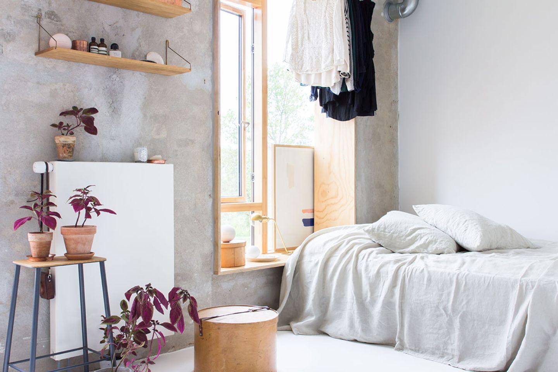 Wohn- und Schlafzimmer kombiniert