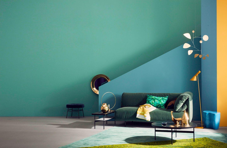 Wohntipps zum Streichen mit farbiger Wandfarbe