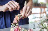Blumenkranz binden: Schritt 5