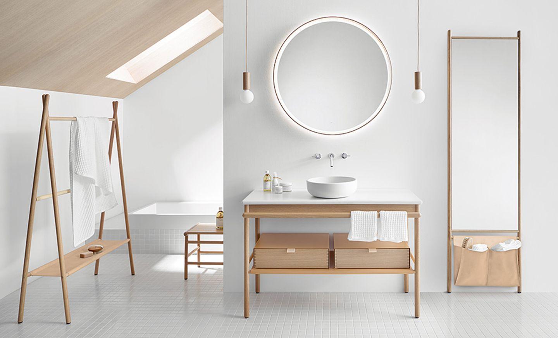 "Badezimmer-Kollektion ""Mya"" aus Eichenholz"