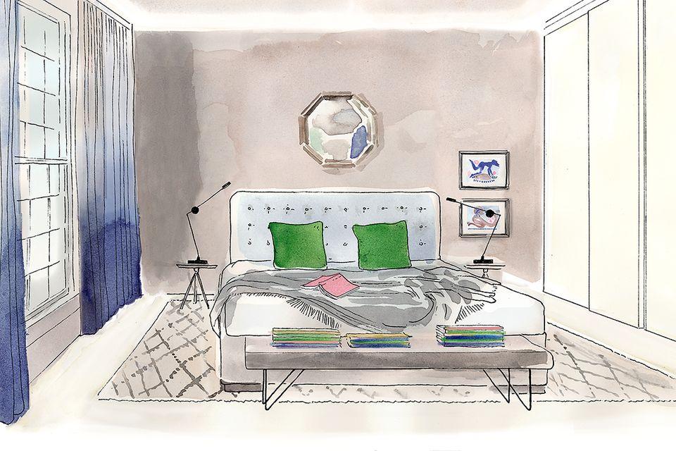 Wohntipps fürs Schlafzimmer: Illustration