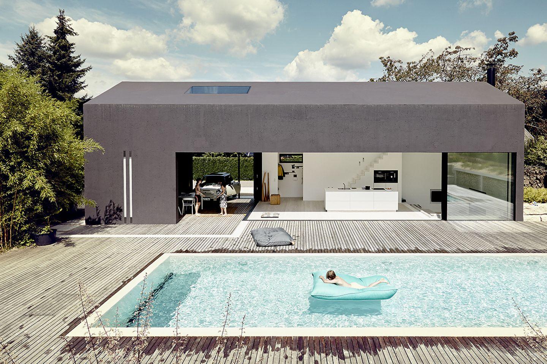 Architektenhaus: Ferienhaus aus Leichtbeton - Totale
