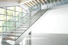 Treppen: weiße, gerade Wangentreppe