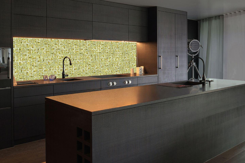 """Leuchtende Wand: Glasmosaik """"Volantiles"""" mit LED-Hintergrundlicht"""