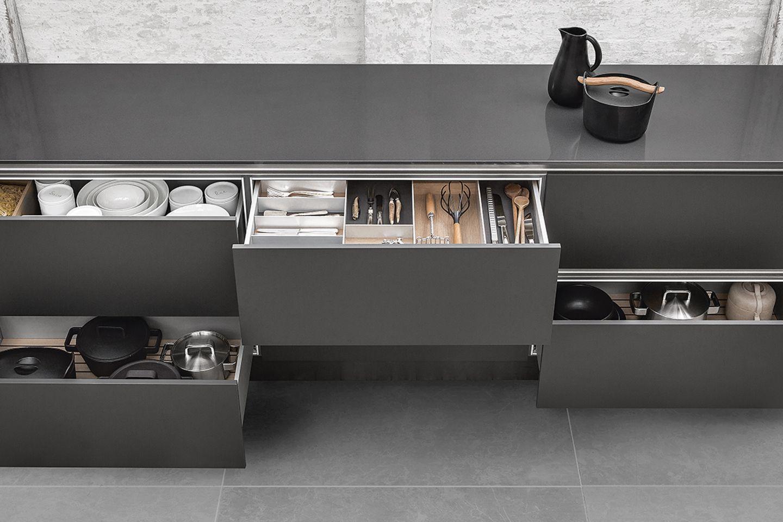In der Küche: Schubladenausstattung von Siematic