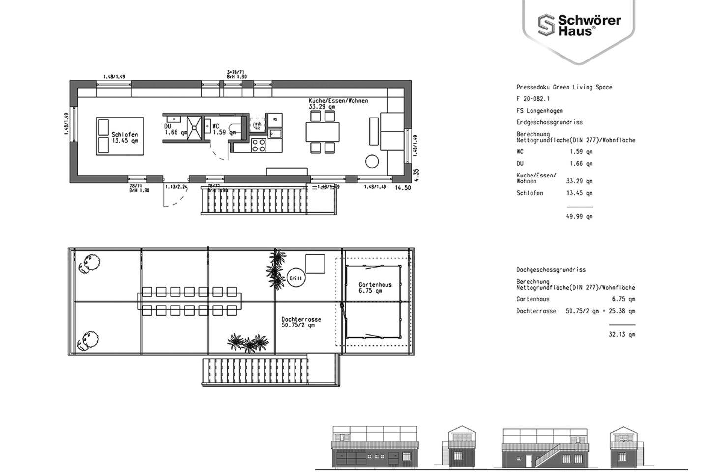 """Der Grundriss des """"Green Living Space"""" von SchwörerHaus"""