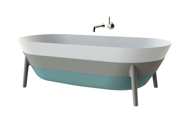 """Minimalistische Badewanne """"Tricolore"""" von Kaldewei"""