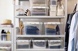 Kleidung verstauen: Kunststoff-Boxen von Orthex