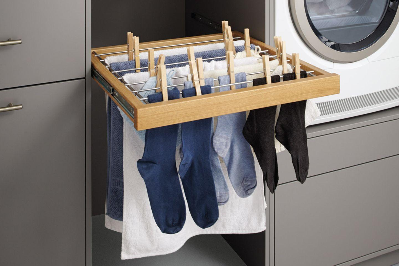 Wäschehalter von Schüller im Hauswirtschaftsraum