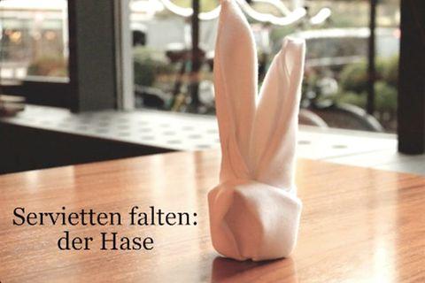 Servietten falten: der Hase