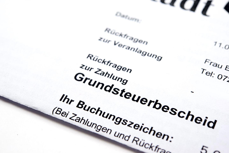Grundsteuer: Bescheid