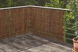 Balkonsichtschutz: Weidenmatte von Manufactum