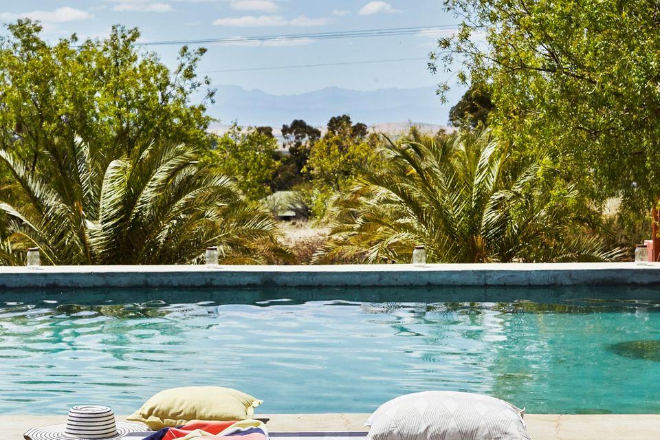 Blick auf Pool in Südafrika