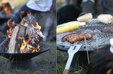 """So heiß: Feuerstelle und Grill """"Helios"""" von Skagerak"""