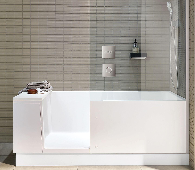"""Für kleine Bäder: Duschbadewanne """"Shower + Bath"""" von Duravit"""